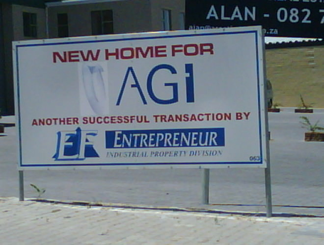 New Home for AGI EF property